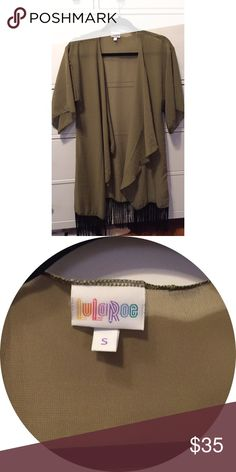 Lularoe sage green Monroe Only worn once. It is a little too big for my liking. LuLaRoe Jackets & Coats