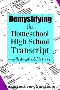 Demystifying the Homeschool High School Transcript — with Fillable PDF Are you worried about providing a homeschool high school transcript for college applications? It is NOT a difficult process, and I'll tell you everything you need to know. School Plan, Prep School, School Info, School Tips, School Stuff, Law School, School Ideas, Homeschool High School, Homeschool Math