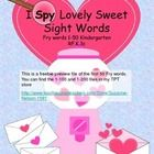 The words included in this I Spy activity are Fry's first 50 words (free!!)