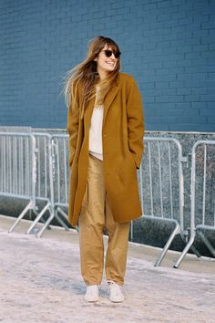 Caroline de Maigret New York Fashion Week AW 2014 #streetsyle #nyc