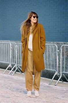 Caroline doing camel. NYC. #CarolineDeMaigret