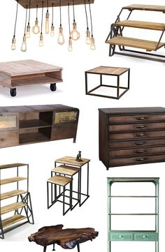Industrial Modern Furniture & Décor | dotandbo.com NOT necessarily art tools - but it would be great furniture for an awesome studio.