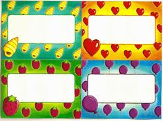 Etiqueta - infantil - preschool - label Frame, Bags, Decor, Kids Labels, Beginning Of Year, Schools, Preschool, Teachers, Cards