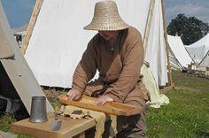 Viking building a lyre