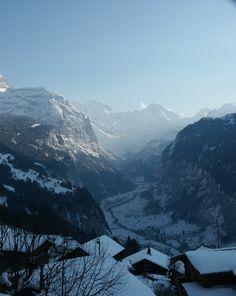 Looking to Lauterbrunne (below) from Wengen, Switzerland Winterthur, Zermatt, Bern, Wengen Switzerland, Hotels, Seize The Days, Cabin Ideas, Luxury Travel, Austria