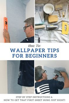 Wallpaper installation can be easy and quick. In this post, I share my best tips on how to hang paste the wall wallpaper - the EASIEST type of wallpaper for beginners. to wallpaper how to apply Rambling Renovators: Paste The Wall Wallpaper Tips Wallpaper Over Wallpaper, How To Make Wallpaper, Wallpaper Paste, Wallpaper Decor, Hanging Wallpaper, Wallpaper Installation, Decorating On A Budget, Decorating Blogs, Interior Decorating
