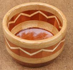 Making a chevron segmented bowl