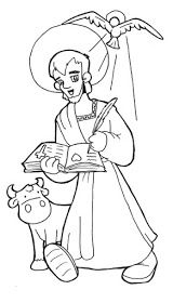 Luke the Evangelist Catholic Coloring Page. Patron of physicians and… Jesus Coloring Pages, Preschool Coloring Pages, Coloring Book Pages, Catholic Kids, Catholic Saints, Luke The Evangelist, Bible Crafts For Kids, Christian Pictures, All Saints Day
