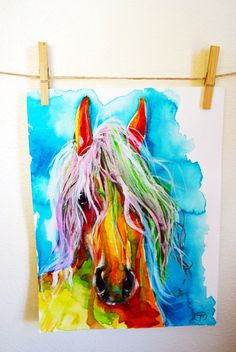 Wild Horse of Assateague Island by JessicaMingoDesigns on Etsy, $15.00