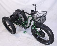 Electric Fat Tire Trike Adult Tricycle GREEN APPLE & adult tricycle canopy | play | Pinterest | Adult tricycle ...