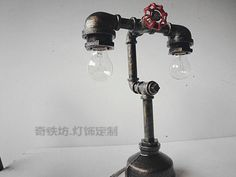 16 Sculptural Industrial DIY Pipe Lamp Design Ideas Able to Transform Your Decor homesthetics design Pipe Lighting, Copper Lighting, Industrial Lighting, Metal Pipe, Iron Pipe, Plumbing Pipe, Metal Art, Lampe Steampunk, Steampunk Diy