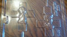 Large Christening Cross with Girl Chocolate Lollipop Mold by Chocolatenest on Etsy