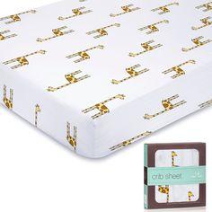 Giraffe cot sheet