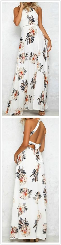 Just take this and enjoy your holiday! You're yearning to stand out from the crowd in this Backless Floral Printing Dress.OASAP.comwill give you a gorgeous look!