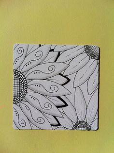 Celebrate Possibilities!: Zentangle Challenge #43 - Sunflowers
