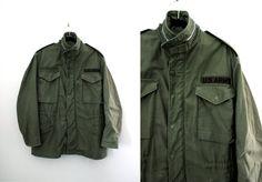 Relisted! Vintage '70s US Army Field Jacket Size Medium Regular at CutandChicVintage on Etsy.