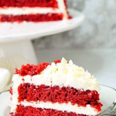 Eggless Red Velvet Cake With Cream Cheese Frosting - Aromatic Essence Red Velvet Cake Icing, Eggless Red Velvet Cake, Red Cake, Cake With Cream Cheese, Cream Cheese Frosting, Cookie Frosting, Baking Tins, Cake Flour, Cake Tins