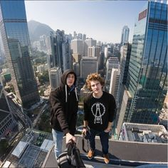 Vitaliy Raskalov, 22, and Vadim Makhorov, 25, scale tall buildings and bridges around the world, snapping photos from the top of them.