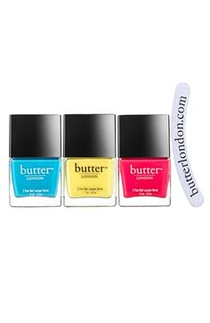 butter LONDON 'Pop Art' Nail Lacquer Trio (Limited Edition) ($53 Value) available at #Nordstrom