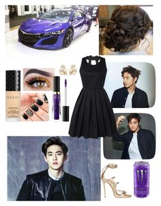 """Car meet with Suho from EXO"" by mimiisabooknerd ❤ liked on Polyvore featuring Gucci, Dsquared2 and Too Faced Cosmetics"