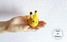 Pikachu Chibi inspirado en Pokémon - Pikachu - Pikachu Amigurumi, Pikachu Peluche, Regalo Pokémon, Regalo Geek, Mini Pikachu Pikachu Chibi, Pokemon, Stuffed Animals, Lana, Video Games, Anime, Geek Stuff, Friends, Etsy