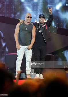 Nicky Jam and Vin Diesel performs onstage at the Billboard Latin Music Awards at Watsco Center on April 27, 2017 in Coral Gables, Florida.