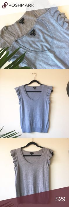 Talbots ruffles sleeveless top Talbots bundle!!! Heather blue and grey sleeveless top with adorable ruffle details. Good  used condition. Minor pilling. Please see pictures for details! And Feel free to ask me any questions!! Talbots Tops