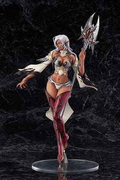 Elfa Oscura: piel morena del RPG Lineage II (Max Factory)