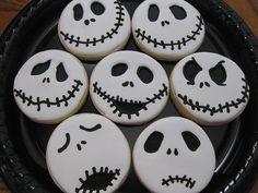 Jack Skellington cupcakes.