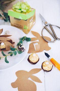 DIY Tischkarte | selbstgemachtes Mitbringsel zu Ostern mit Ferrero Rocher | http://titatoni.blogspot.de/