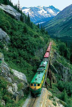 travis-caulfield:   Train in Skagway, Alaska.  For more great travel photos check out my blog at http://traviscaulfield.wordpress.com