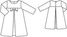 Burda Bow & Pleat Dress pattern