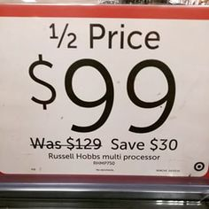 When they did the math on this 50% discount: | 15 Times Target Totally Missed The Mark