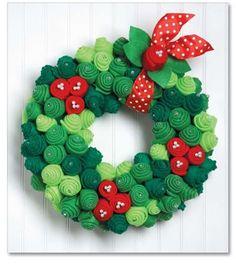 pärg/Felt Holiday Wreath