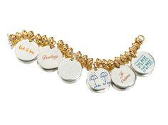 Bracciale con Monete  bracelet silver gift women gioiello moda fashion jewellery beautiful queriot civita gold