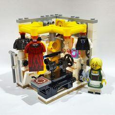 The Seamstress - Trend Lego Box 2020 Legos, Casa Lego, Lego Decorations, Lego Wallpaper, Lego Furniture, Lego Creative, Lego Boards, Amazing Lego Creations, Lego Pictures