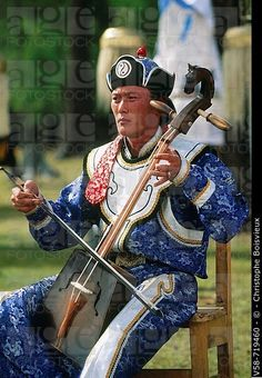 Morin khuur jugador. Tsaatan festival de pastores de renos. Jankhai. Lago Khövsgöl. Mongolia