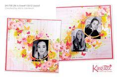 Kaszazz workshop  2H1730 Life Is Sweet 12x12 Layout