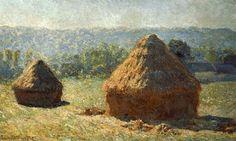 monet haystack paintings images | Monet Haystacks