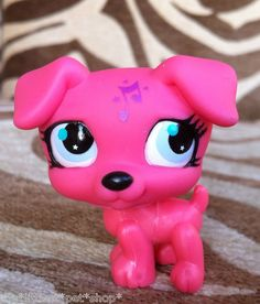 ✿NEW✿#2886 HOT PINK JACK RUSSELL✿MUSIC NOTE COLLECTION✿LITTLEST PET SHOP✿RARE  5.44