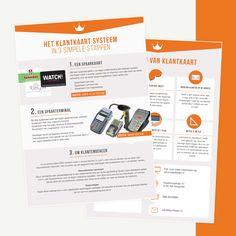 Informative flyer about Klantkaart