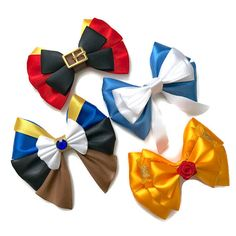 Beauty & the Beast Disney Inspired Gaston Belle Beast Hair Bow Gaston And Belle, Belle And Beast, Star Wars Disney, Disney Races, Disney Cruise, Disney Diy, Baby Disney, Disney Belle, Anna Et Elsa