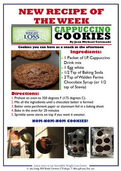 Cappuccino Cookies Ideal protein