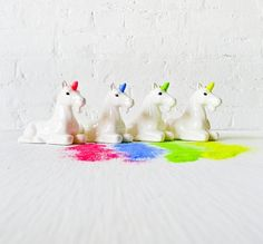 unicorn glitter dispensers - yes please! everybody needs one.