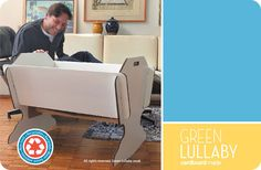 Eco Cradle by Green Lullaby. A baby Cradle made entirely of corrugated cardboard and designed to cater for babies first few months.