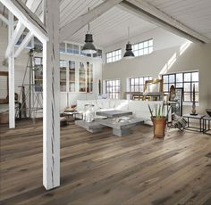 Wonderful representation of the importance of light in Danish design. Kahrs Oak Sture Engineered Wood Flooring