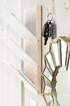 DIY wall letter holder