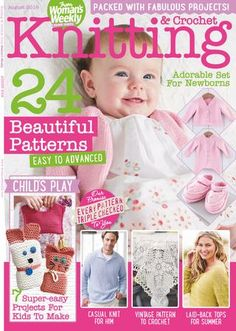 Knitting crochet from woman s weekly august 2016