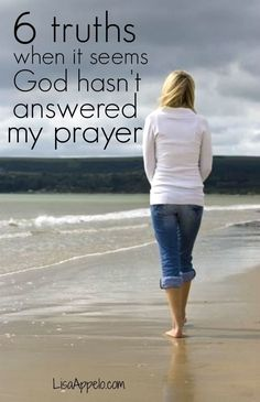 Does it ever seem like God doesn't hear your prayers? Here are 6 essential truths when you're waiting on God to answer your prayer.: Does it ever seem like God doesn't hear your prayers? Here are 6 essential truths when you're waiting on God to answer your prayer.