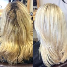 """""""Brassy to Beautiful Blonde! My secret weapons were Olaplex and Schwarzkopf Blondeme. These products are amazing and kept the integrity of her hair intact. @olaplex @schwarzkopfusa #blonde #btcpics #modernsalon #behindthechair #stylistmagic #blowout #nakedstylist #longlayers"""" Photo taken by @clarissad7 on Instagram, pinned via the InstaPin iOS App! http://www.instapinapp.com (02/28/2015)"""